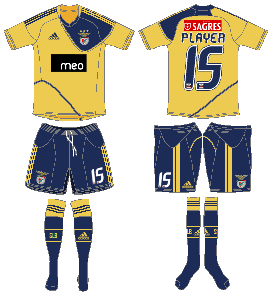 S.L. Benfica Uniform Road Uniform (2010-2011) -  SportsLogos.Net