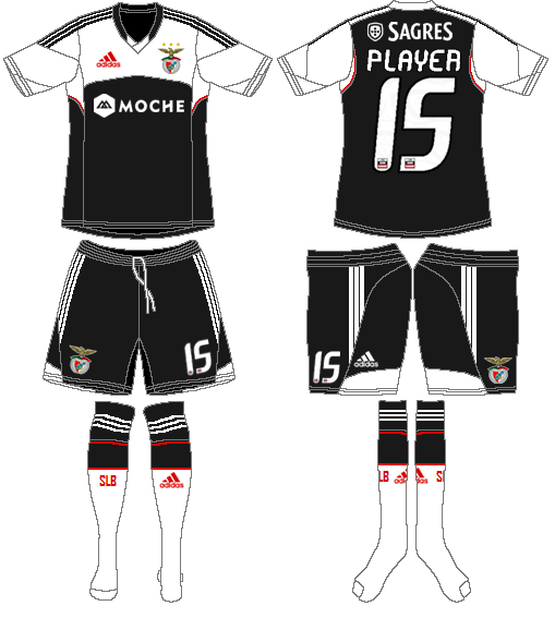 S.L. Benfica Uniform Road Uniform (2013-2014) -  SportsLogos.Net