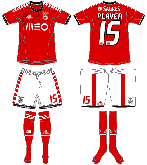S.L. Benfica Uniform Home Uniform (2013-2014) -  SportsLogos.Net