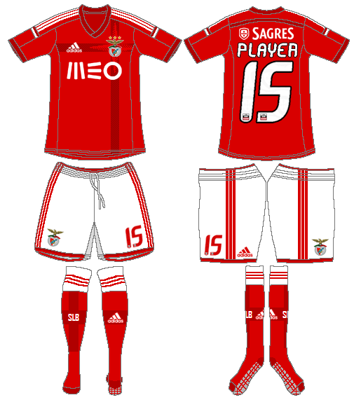 S.L. Benfica Uniform Home Uniform (2014-2015) -  SportsLogos.Net