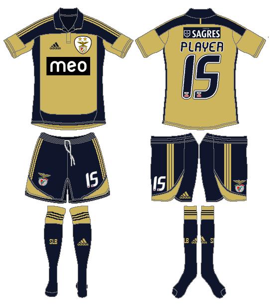 S.L. Benfica Uniform Road Uniform (2011-2012) -  SportsLogos.Net