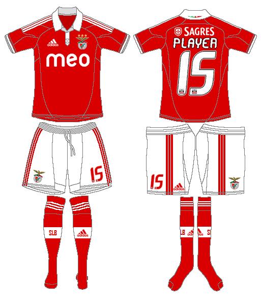 S.L. Benfica Uniform Home Uniform (2012-2013) -  SportsLogos.Net