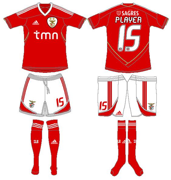 S.L. Benfica Uniform Home Uniform (2011-2012) -  SportsLogos.Net