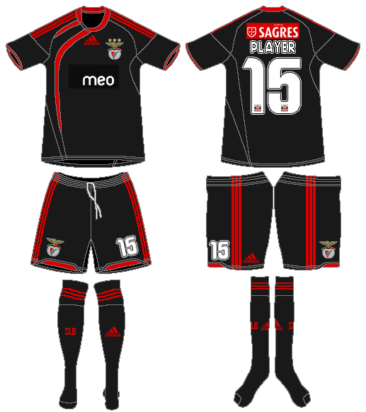 S.L. Benfica Uniform Road Uniform (2009-2010) -  SportsLogos.Net
