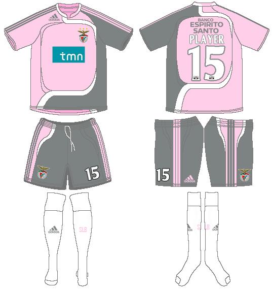S.L. Benfica Uniform Road Uniform (2007-2008) -  SportsLogos.Net