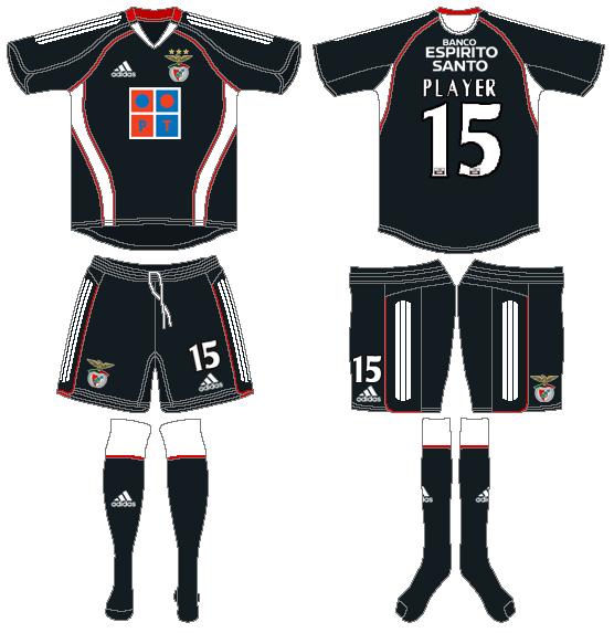 S.L. Benfica Uniform Road Uniform (2005-2006) -  SportsLogos.Net