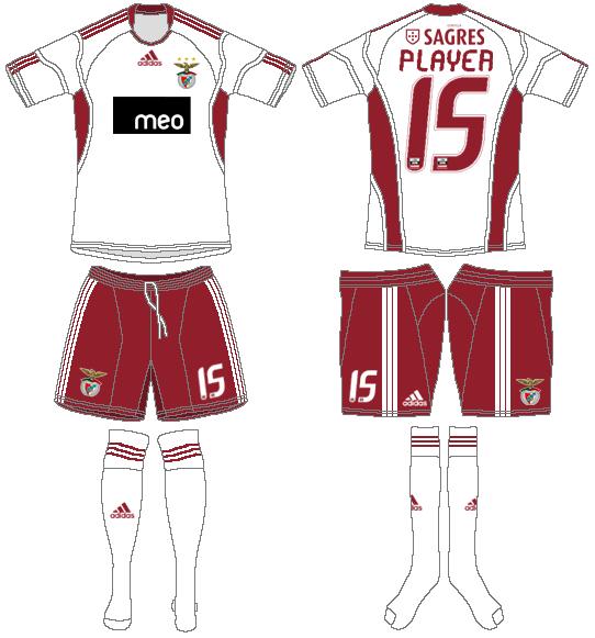 S.L. Benfica Uniform Alternate Uniform (2010-2011) -  SportsLogos.Net