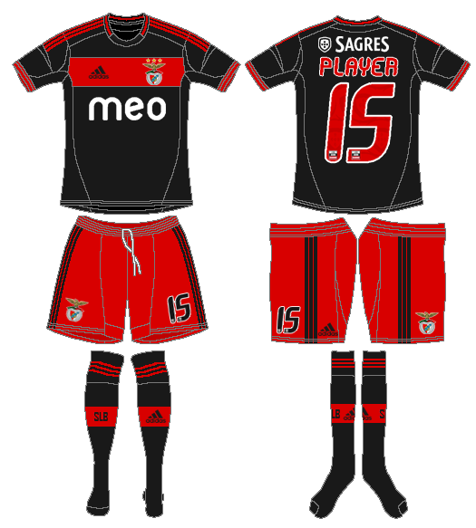S.L. Benfica Uniform Road Uniform (2012-2013) -  SportsLogos.Net
