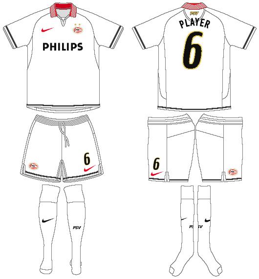 PSV Eindhoven Uniform Road Uniform (2007-2009) -  SportsLogos.Net