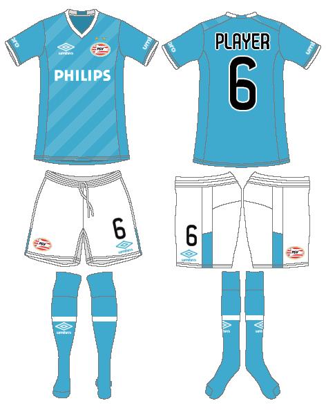 PSV Eindhoven Uniform Alternate Uniform (2015-2016) -  SportsLogos.Net
