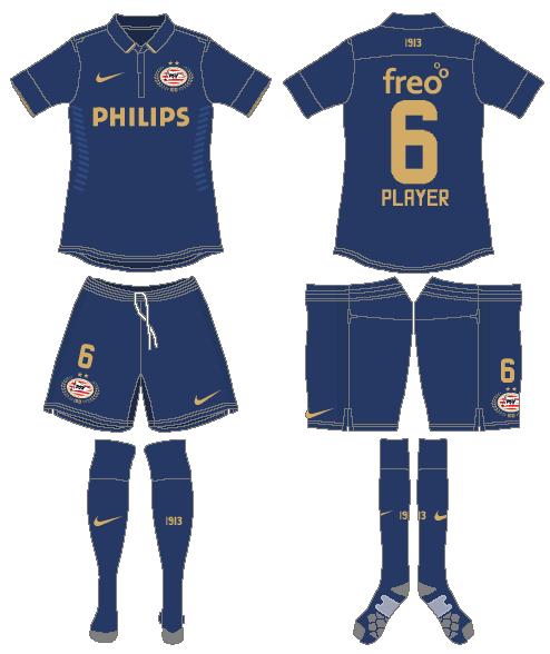 PSV Eindhoven Uniform Road Uniform (2013-2014) -  SportsLogos.Net