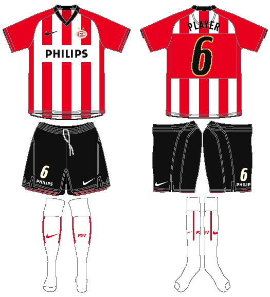 PSV Eindhoven Uniform Home Uniform (2008-2010) -  SportsLogos.Net