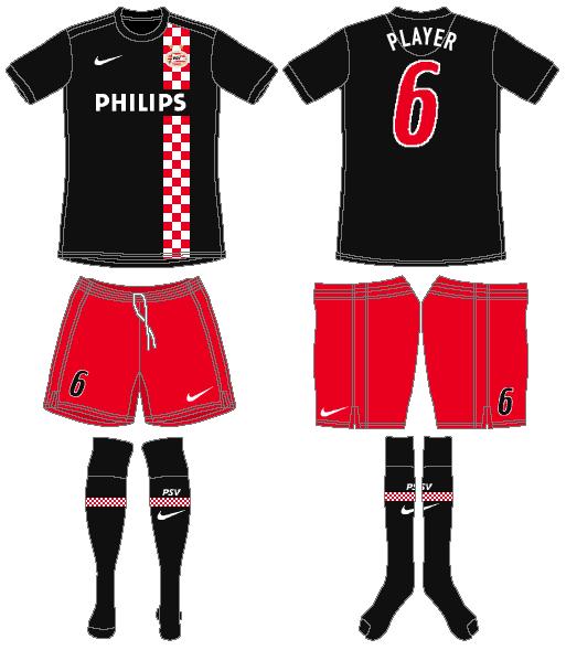 PSV Eindhoven Uniform Road Uniform (2009-2010) -  SportsLogos.Net