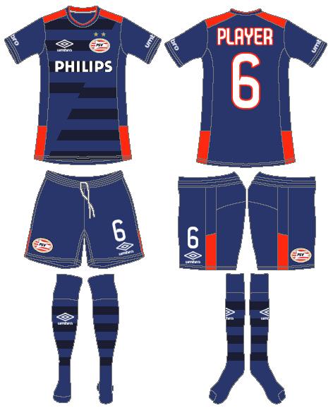 PSV Eindhoven Uniform Road Uniform (2015-2016) -  SportsLogos.Net