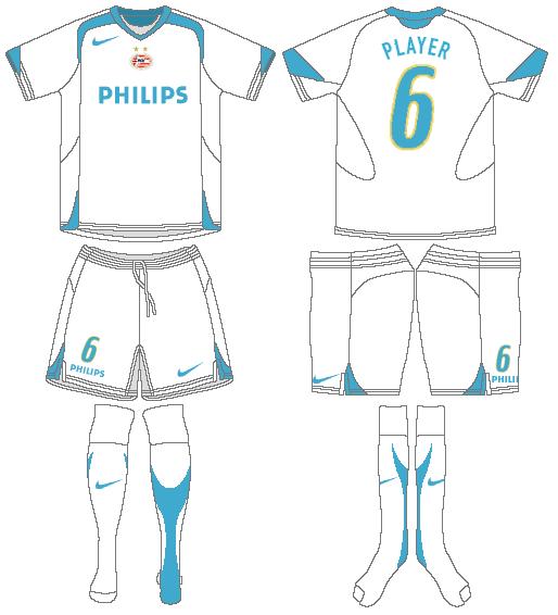 PSV Eindhoven Uniform Alternate Uniform (2005-2007) -  SportsLogos.Net
