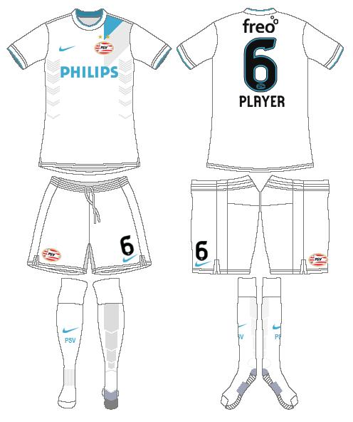 PSV Eindhoven Uniform Road Uniform (2014-2015) -  SportsLogos.Net