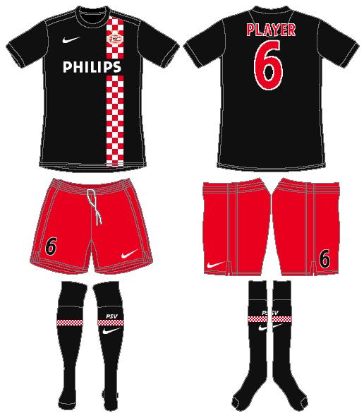 PSV Eindhoven Uniform Road Uniform (2010-2011) -  SportsLogos.Net