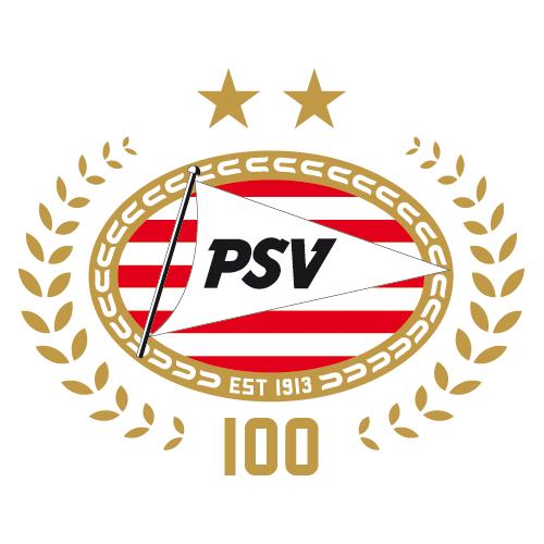 PSV Eindhoven Logo Anniversary Logo (2013-2014) - 100 Years SportsLogos.Net