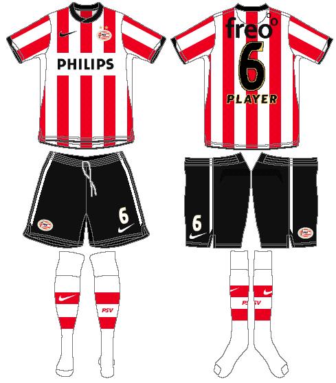 PSV Eindhoven Uniform Home Uniform (2011-2012) -  SportsLogos.Net