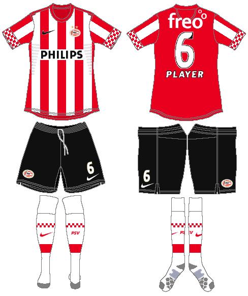 PSV Eindhoven Uniform Home Uniform (2012-2013) -  SportsLogos.Net