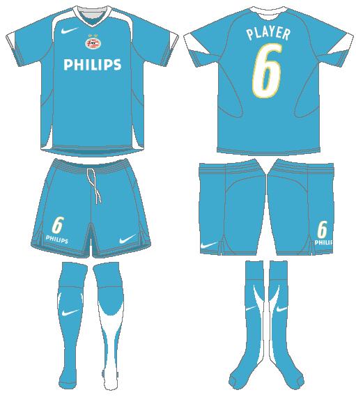 PSV Eindhoven Uniform Road Uniform (2005-2007) -  SportsLogos.Net