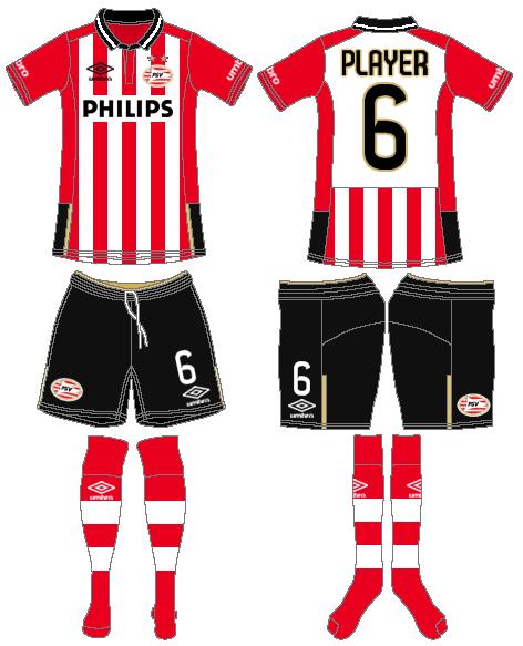PSV Eindhoven Uniform Home Uniform (2015-2016) -  SportsLogos.Net