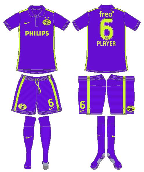 PSV Eindhoven Uniform Special Event Uniform (2015) - Nike Anniversary Kit SportsLogos.Net