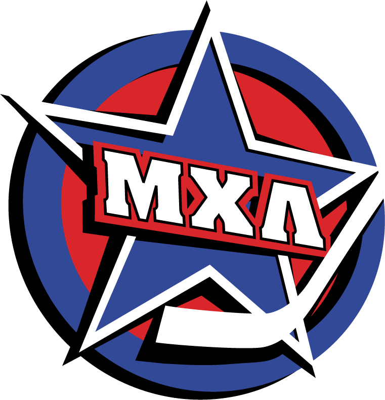 Minor Hockey League (Russia) Logo Primary Logo (2009/10-Pres) - Молодежная Хоккейная Лига - (МХЛ) ---- translated in English = Minor Hockey League - (MHL) ------- Is the affiliated development league of the Kontinental Hockey League (KHL) SportsLogos.Net