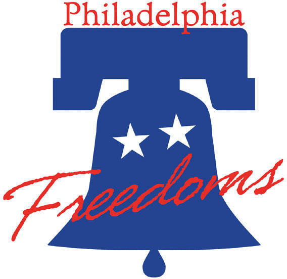 Philadelphia Freedoms Logo Primary Logo (2001-2004) - The Liberty Bell with team name scrawled across it SportsLogos.Net