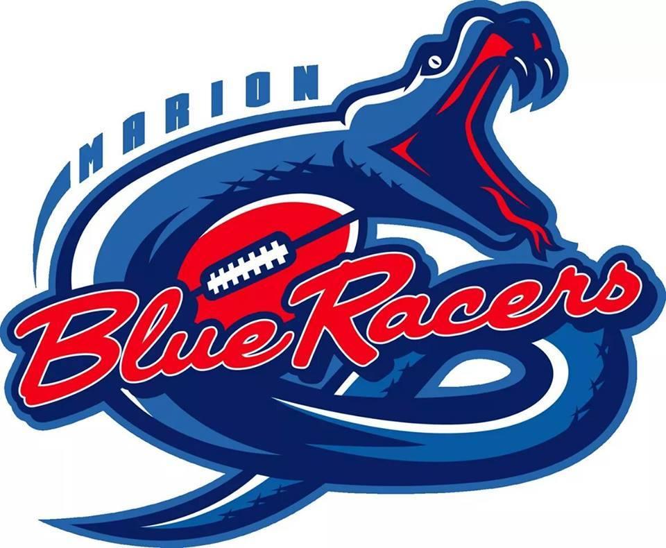 Marion Blue Racers Logo Primary Logo (2015-Pres) -  SportsLogos.Net