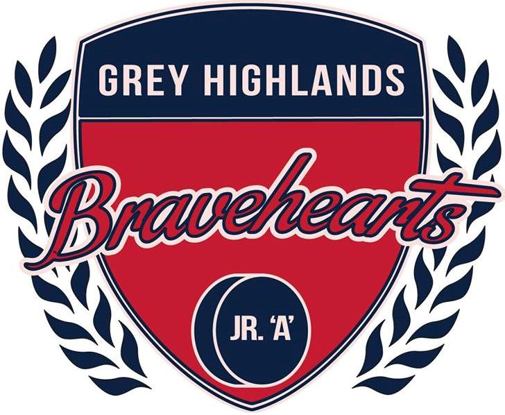 Grey Highlands Bravehearts   Logo Primary Logo (2014/15-Pres) -  SportsLogos.Net