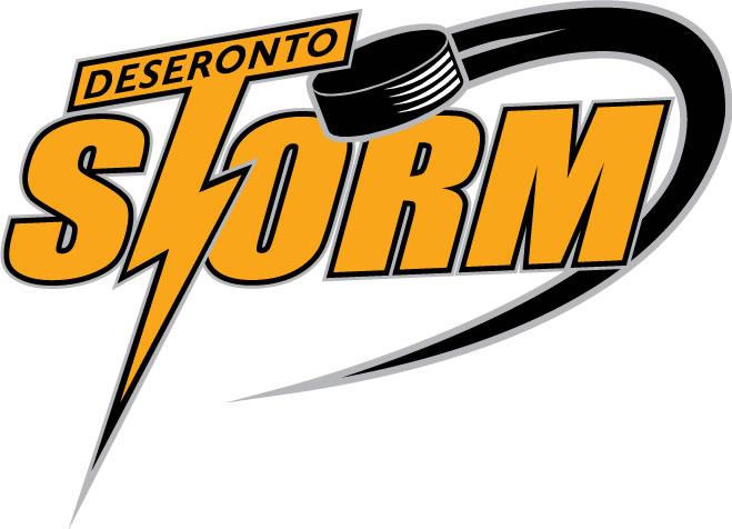 Deseronto Storm Logo Primary Logo (2007/08-2011/12) -  SportsLogos.Net