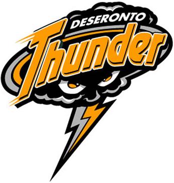 Deseronto Thunder Logo Primary Logo (2006/07) -  SportsLogos.Net