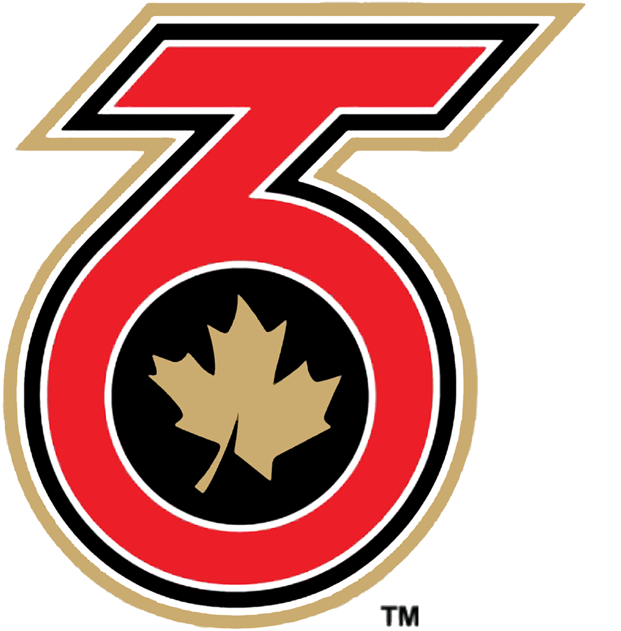 Toronto  Six Logo Primary Logo (2020/21-Pres) - A red TO (for Toronto) also in the shape of the number 6, a gold maple leaf inside on black SportsLogos.Net