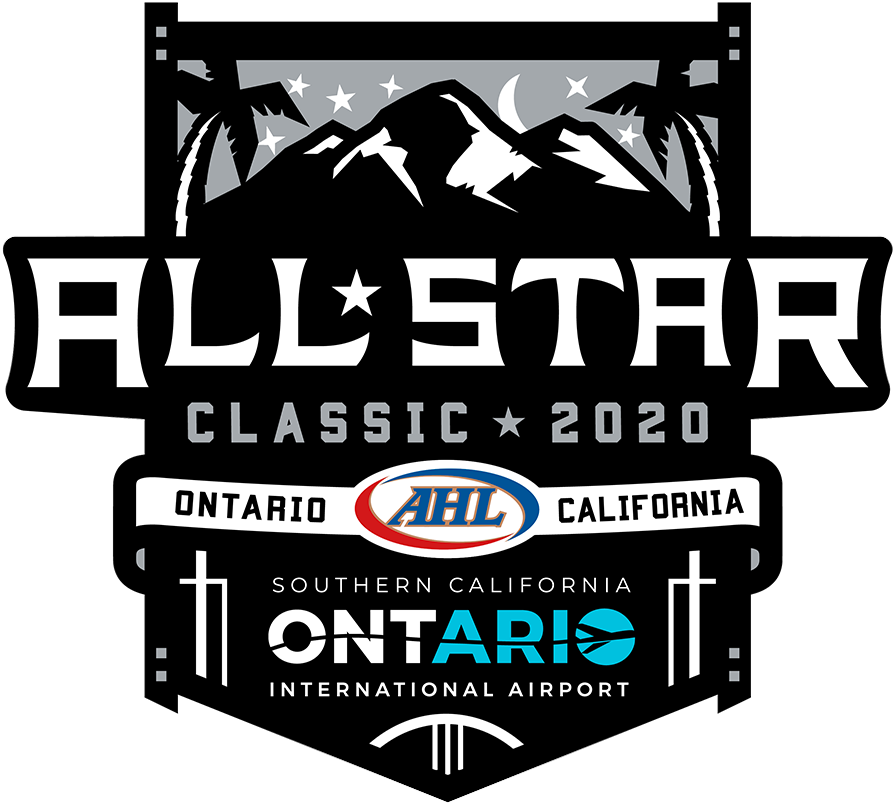 AHL All-Star Classic Logo Primary Logo (2019/20) - 2020 AHL All-Star Classic Logo, game played in Ontario, California hosted by Ontario Reign SportsLogos.Net