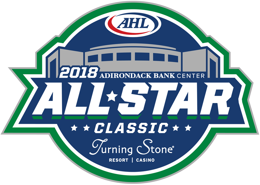 AHL All-Star Classic Logo Primary Logo (2017/18) - 2018 AHL All-Star Classic Logo, game played in Utica, NY hosted by Utica Comets SportsLogos.Net