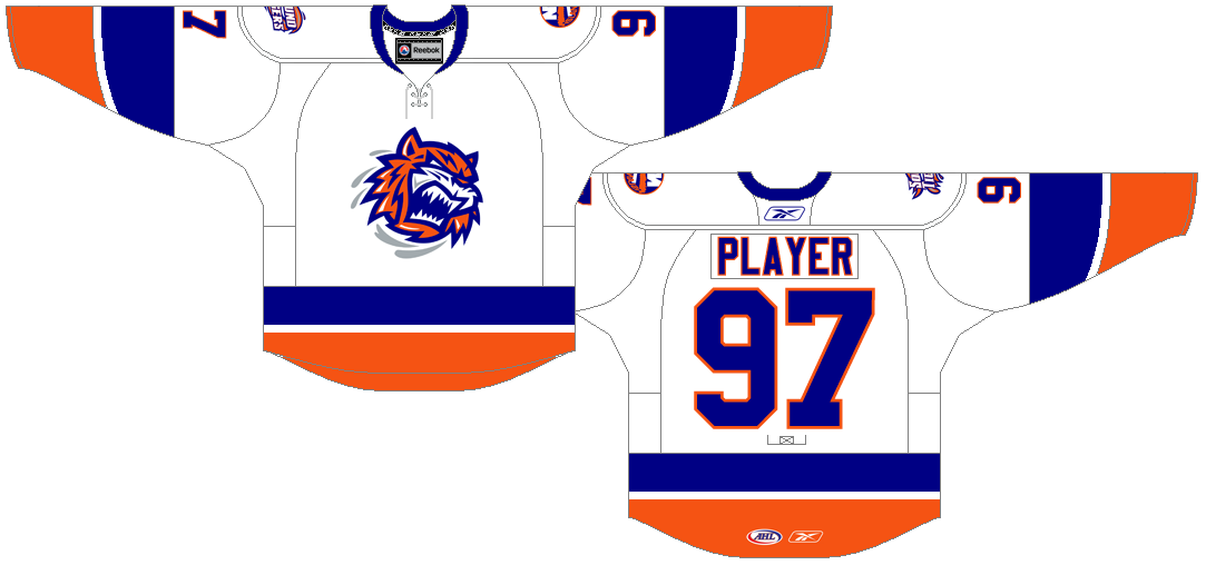 Bridgeport Sound Tigers Uniform Home Uniform (2010/11-Pres) -  SportsLogos.Net