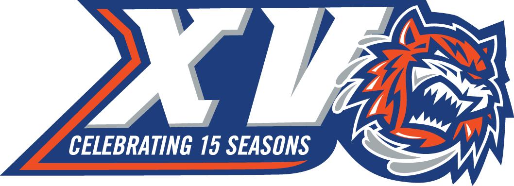 Bridgeport Sound Tigers Logo Anniversary Logo (2015/16) - 15th anniversary logo SportsLogos.Net