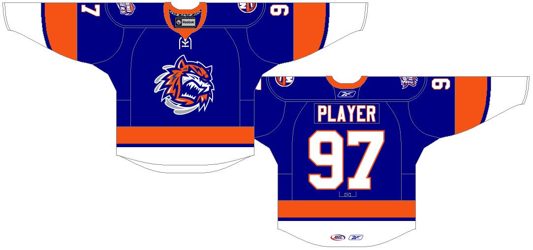 Bridgeport Sound Tigers Uniform Road Uniform (2010/11-Pres) -  SportsLogos.Net