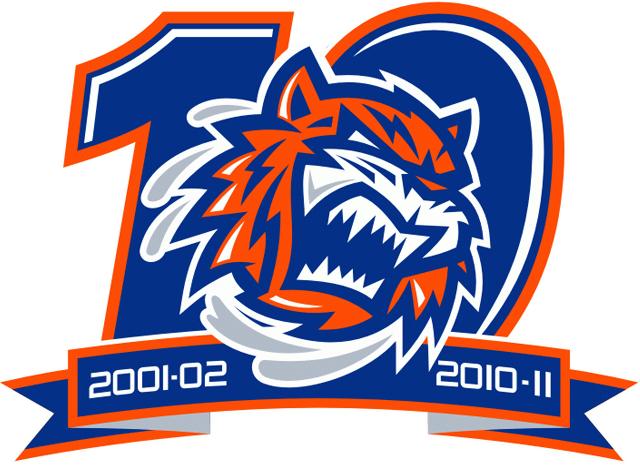 Bridgeport Sound Tigers Logo Anniversary Logo (2010/11) -  SportsLogos.Net