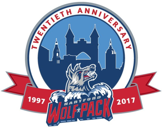 Hartford Wolf Pack Logo Anniversary Logo (2016/17) -  SportsLogos.Net