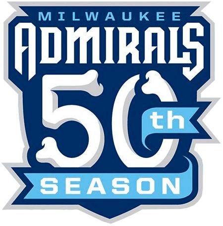 Milwaukee Admirals Logo Anniversary Logo (2019/20) - Milwaukee Admirals 50th season logo (including their years playing in the IHL) SportsLogos.Net