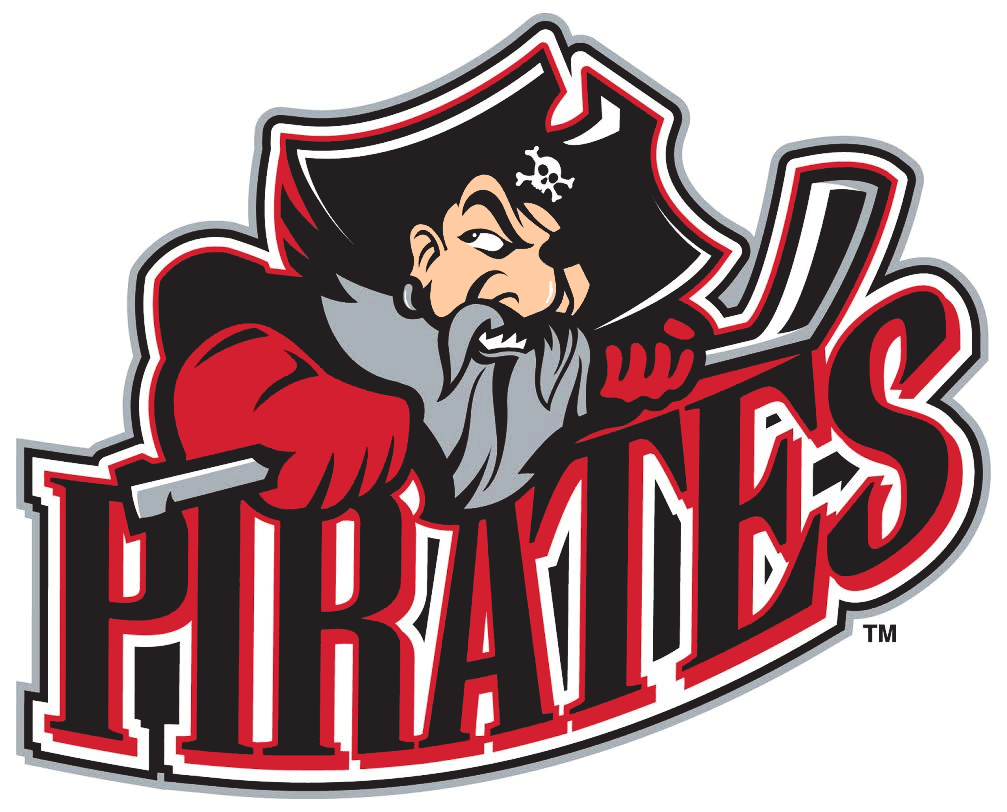 Portland Pirates Logo Primary Logo (2015/16) - PORTLAND wordmark removed from side of logo SportsLogos.Net