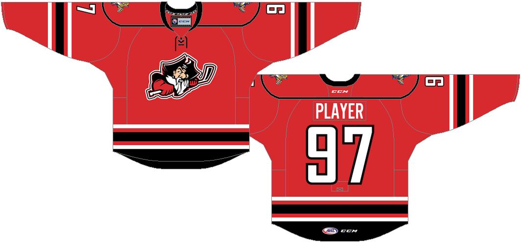 Portland Pirates Uniform Road Uniform (2015/16) -  SportsLogos.Net
