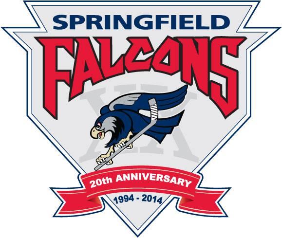 Springfield Falcons Logo Anniversary Logo (2013/14) - 20th Anniversary logo SportsLogos.Net