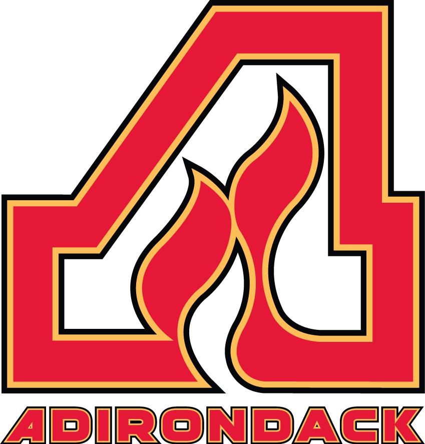 Adirondack Flames Logo Primary Logo (2014/15) -  SportsLogos.Net