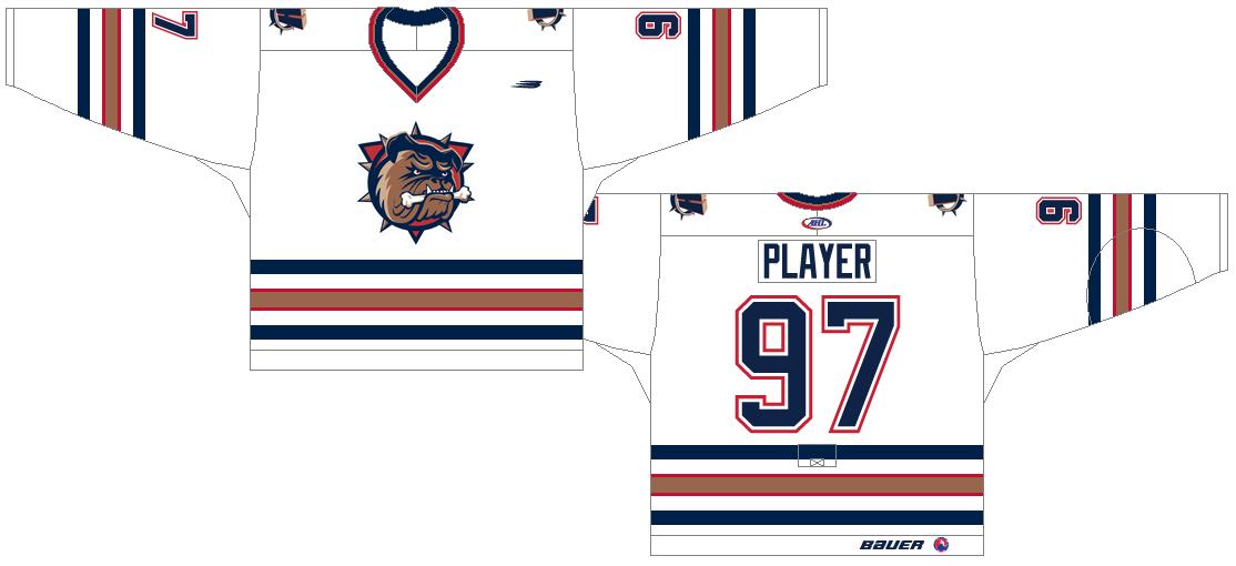 Hamilton Bulldogs Uniform Home Uniform (1997/98-2001/02) -  SportsLogos.Net