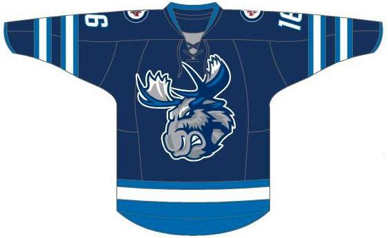 Manitoba Moose Uniform Road Uniform (2015/16-Pres) -  SportsLogos.Net