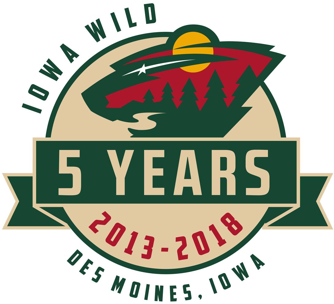 Iowa Wild Logo Anniversary Logo (2017/18) -  SportsLogos.Net