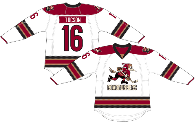 Tucson Roadrunners Uniform Home Uniform (2016/17-Pres) -  SportsLogos.Net
